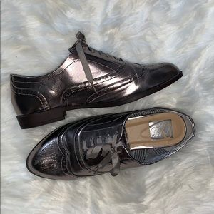 Shoes - Pewter Oxfords / Brogues/ Tie Ups